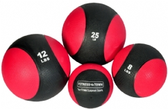 Red/Black Two Tone Medicine Ball