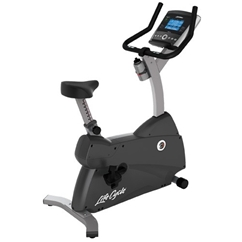 Life Fitness C1 Upright Lifecycle Bike with Go Console